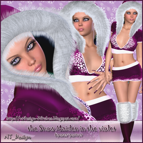 3d the Snow Maiden in the violet
