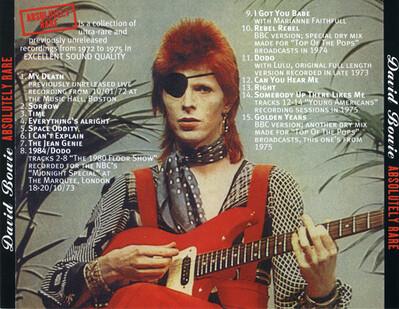 Le choix des lecteurs (suite) : David Bowie - Absolutely rare