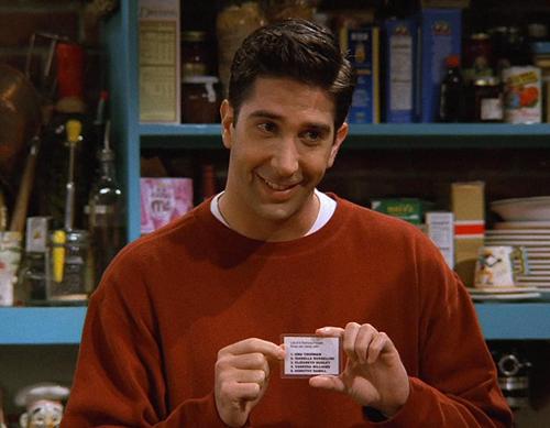 Ma liste de Ross aka les 5 hommes de mes rêves