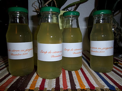 Painers gourmands de Noël: Sirop de citron au gingembre