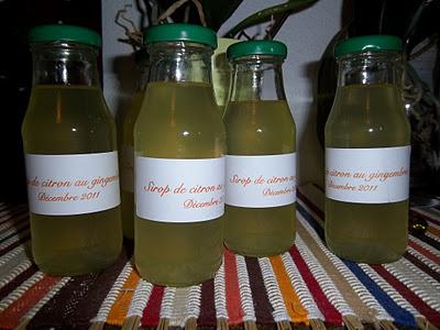 Painers gourmands de Noël: Sirop de citron au gingembre
