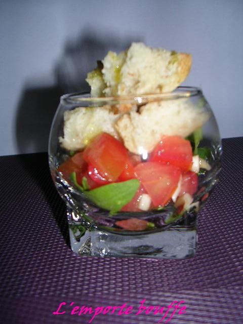 Panzanella en verrine