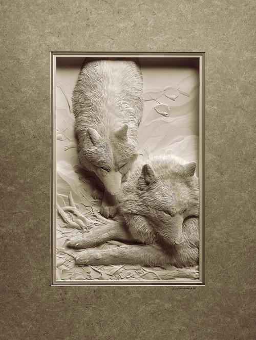 Sculpture sur papier.....