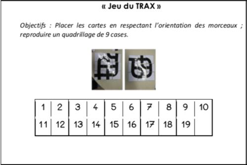 Jeu du Trax - GS (fiche suivi et modèles)