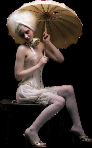Nők esernyővel