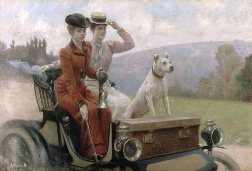 L'automobile, les femmes au début du 20ème siècle