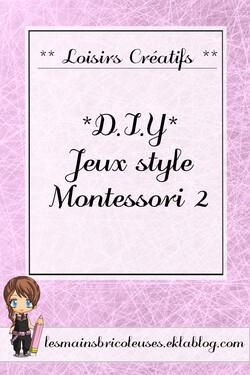 *DIY* Jeux style Montessori 2