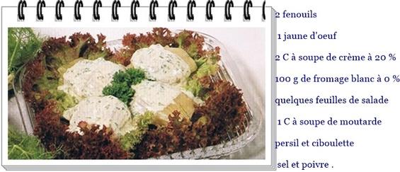 Fenouils sauce verte