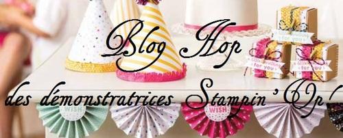 Blog Hop des démonstratrices Stampin'Up!