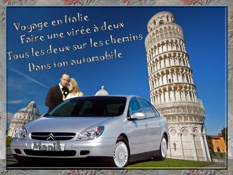 Défi pour mon amie Marjolaine ( Voyage en Italie )