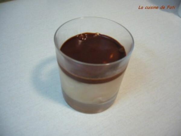 Verrines bavaroises au chocolat