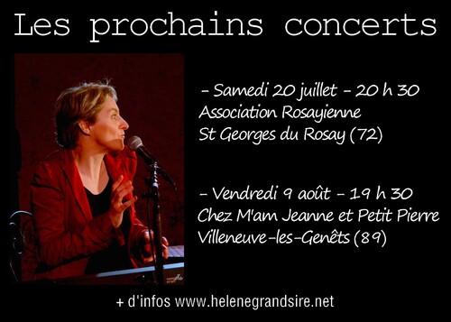 Prochains concerts