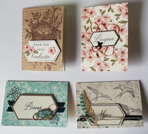 """des cartes avec """"Bisous de Shelli""""...."""
