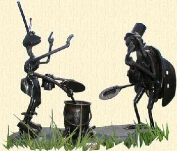 La cigale et la fourmi selon Kallispera