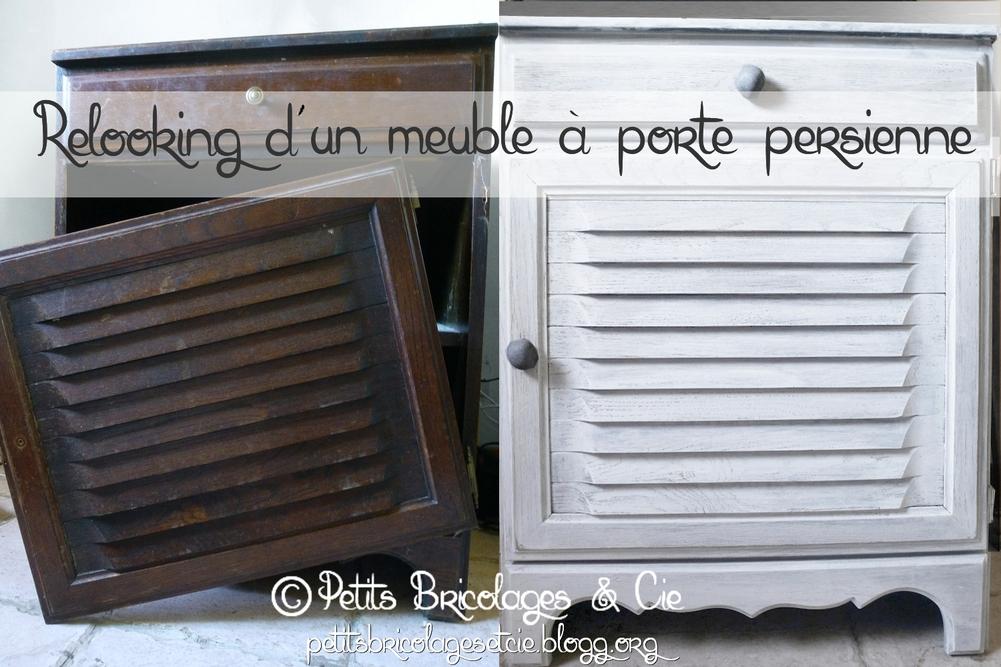 Relooking d'un vieux meuble à porte persienne