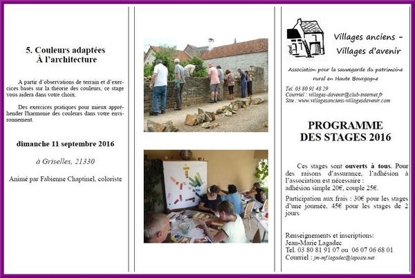 Stages d'été avec Villages Anciens, Villages d'Avenir