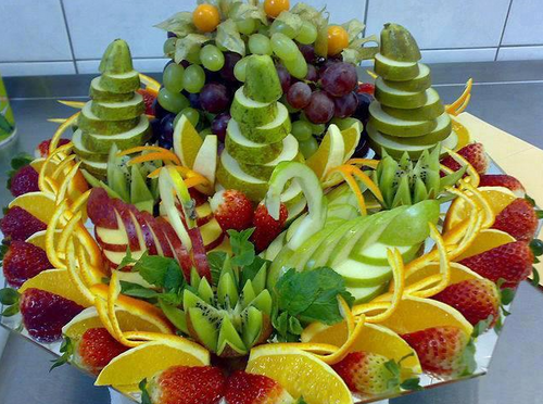 DECORATIONS A BASE DE FRUITS