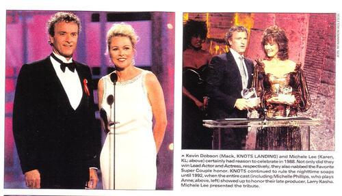 Michele Lee , Kevin Dobson et Tonya Crowe récompensés.