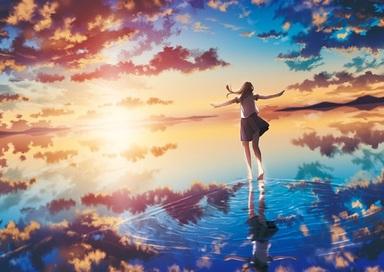 Image de anime, sky, and clouds