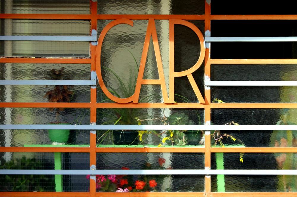 Fenêtre, Rue des Thermes Romains, mai 2011