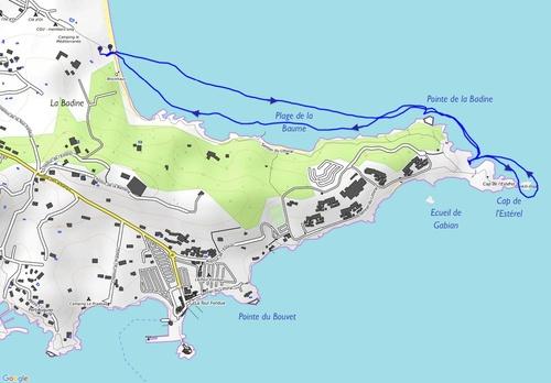 La Badine, Cap de l'Estérel (Kayak)