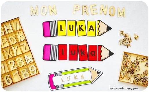 Les prénoms Crayons
