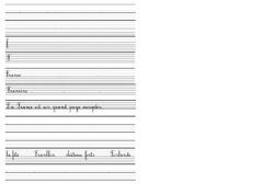 écriture copie