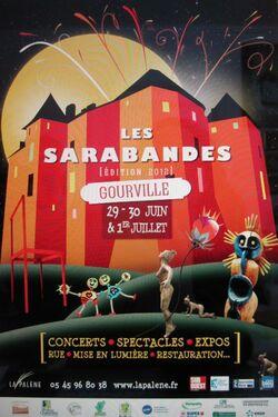 Affiche des Sarabandes - Gourville 2012 - Poiré Guallino