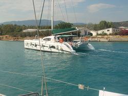 Le canal de Corinthe de la mer Egée à la Mer Ionnienne