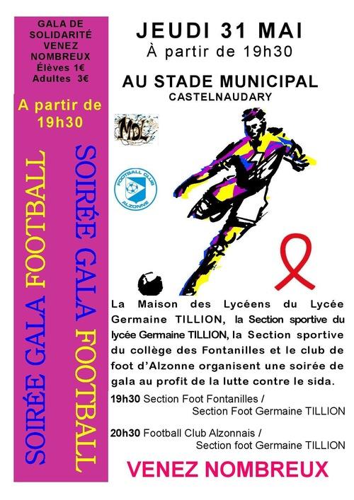 Jeudi 31 mai Match amical pour la lutte contre le SIDA