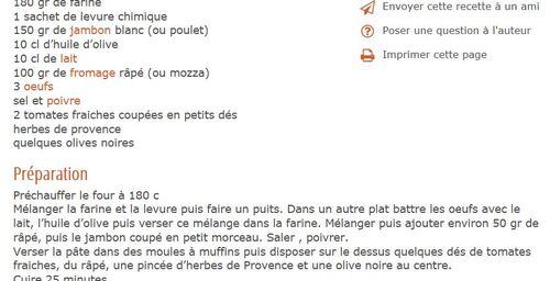 Une petite recette!!