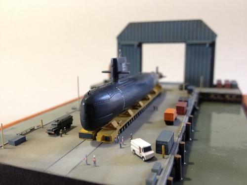 Diorama chantier naval terminé