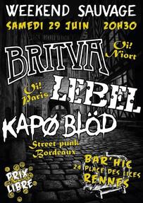 """""""Week-end sauvage"""" - Une soirée oï et street-punk au Bar'Hic (Rennes - Bretagne)"""