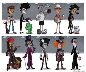 jeff victor L'évolution de Johnny Depp