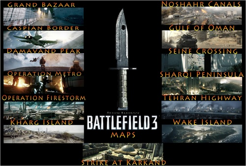 Fond d'écran Battelfield 3 - Maps