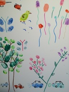 Du bout des doigts : la peinture sans rien d'autre qu'un index ou un pouce...