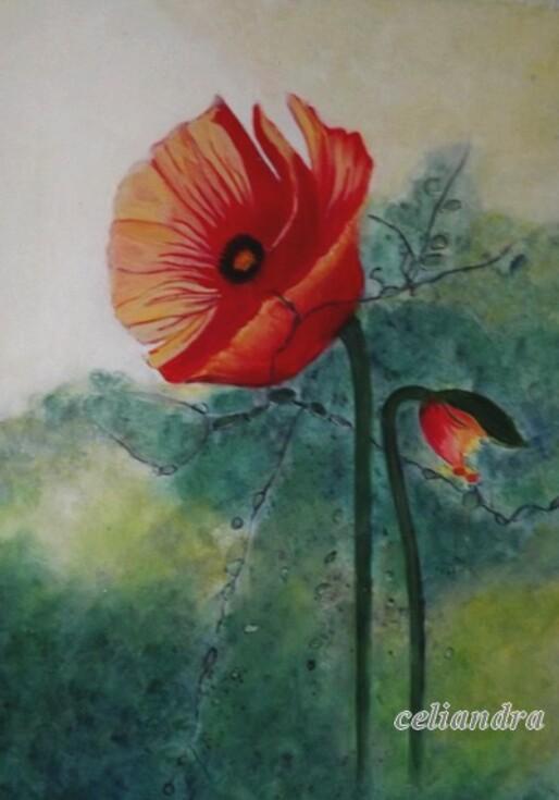 Peinture... Pavot...