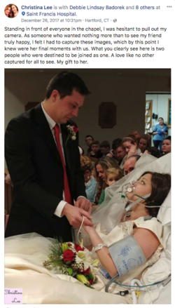 Bride with Breast Cancer Dies Just 18 Hours After Hospital Wedding.