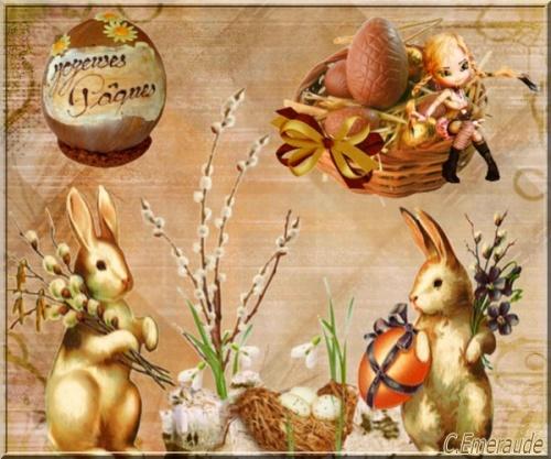 Lapins de Pâques .