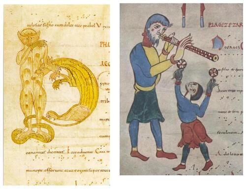 flutiste et jongleur
