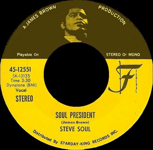 Steve Soul : Single SP Federal Records 45-12551 [ US ]