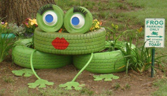pneu-recyclage-originale-idée-sculpture-frog