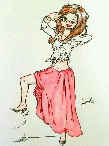 Ma petite danseuse de flamenco :