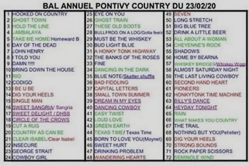 affiche - playlist-pontivy country le 23-02-2020 à 14h30