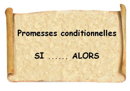 Torah, Promesses conditionnelles, Bénédictions & Malédictions