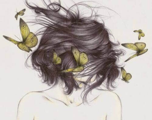 Femme-papillons-representant-ce-que-l'on cache