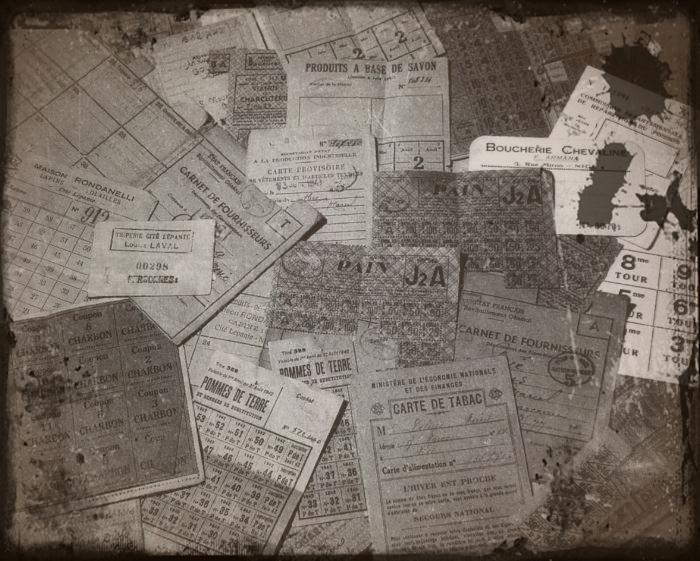 cartes de ravitaillement sous Vichy en 1940