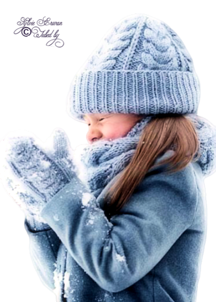Tubes enfants hiver création 17