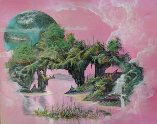 Galaxie  <peinture acrylique sur toile 10f>
