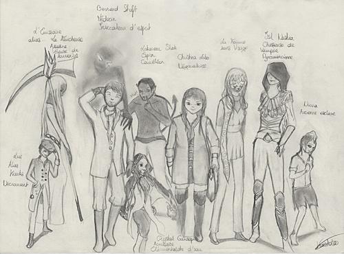 9 personnages de RP